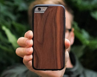 Dark Wood iPhone Case with Airo Shock Protection by Mous Limitless - for iPhone 7, 6S, 6 and iPhone 7 Plus, 6S Plus, 6 Plus