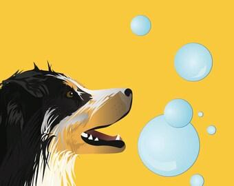 Custom Dog Illustration + Accessories