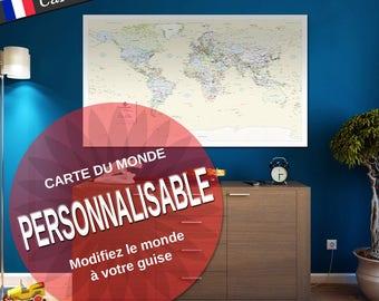 FR- Mappemonde personnalisable
