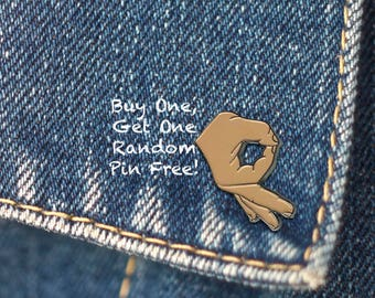 BUY 1, GET 1 Random Pin Free! Circle Game Meme Enamel Pin Ballgazer Lapel Pin Gotcha Pin Badge Funny Pin Internet Meme Pin Soft Enamel Pin