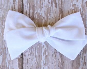 OVERSIZED White Bow