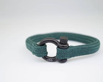 DARK GREEN & black | Sailing bracelet - Custom and Handmade