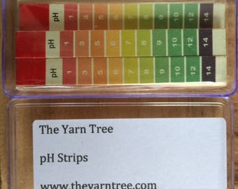 pH Strips - Natural Dyes -