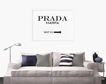 Prada Marfa Print, Prada Marfa Poster, Gossip Girl, Fashion Print, Fashion Poster, Fashion Wall Art, Bedroom Wall Art, Typography Poster
