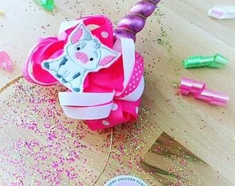 Unicorn Horn Pink Headband , Pua Moana Bow, unicorn horn, unicorn band, iridescent horn
