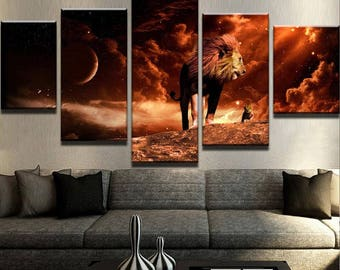 The Real Lion King Canvas Set Lion King Canvas Set Lion King Decor Lion King Poster Simba Canvas Set Nala Canvas Set Mufasa Canvas Set