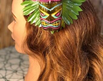 Tiki Head Hair Clip
