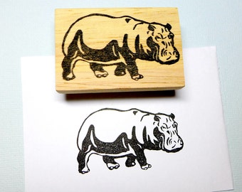 Hippo Rubber Stamp Set