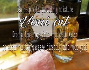 Yoni Oil .05oz.- Healing oil/ womb care/ Moon Cycle Oil/ PH Balancing