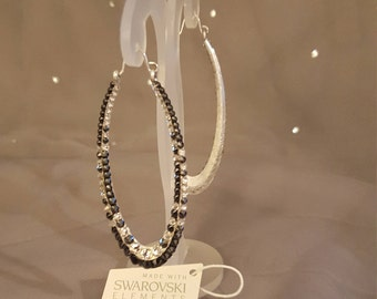 Swarovski Glamour earrings - Bayonce  silver & jet