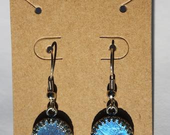 Blue Morpho Butterfly Earrings 018-019
