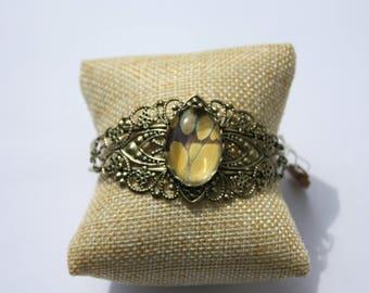 Delias battana Butterfly Bangle Bracelet 067