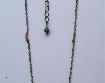Necklace blue snowman