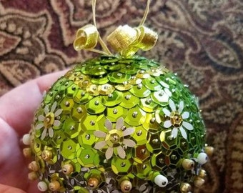 Sequin Ornament Handmade 3""