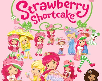 40 Strawberry Shortcake ClipArt - Digital , PNG, image, picture,oil painting,drawing,llustration, art , birthday,handicraft