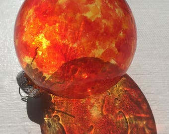 Phoenix Translucent Alcohol Ink Ornament (Suncatcher)