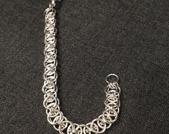 Sterling Silver Parallel Chain Maille Bracelet
