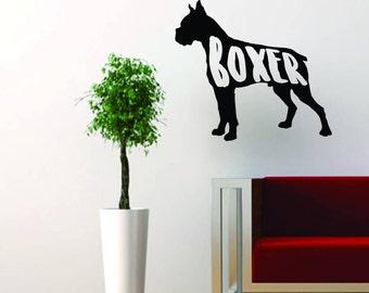 Boxer Wall Decal - Black matte