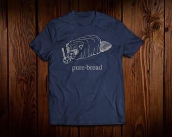 Pure Bread Dog - navy men's crew neck