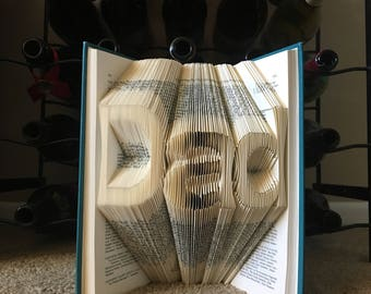 Folded Book Art, Father's Day Gift, Great Gift for Father's Day, Unique Gift