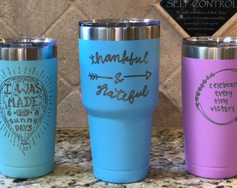 Etched Colored Polar Camel Tumbler