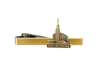 Bern Switzerland Temple Gold Tie Bar - LDS Gifts