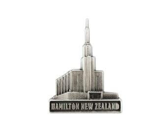 TTT217 - Hamilton New Zealand Temple Silver Pin