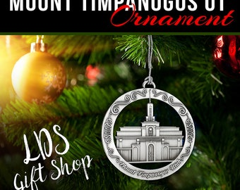 Mt. Timpanogos Utah LDS Temple Ornament