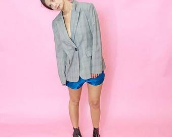 Glen plaid oversized menswear blazer M/L