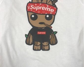 SUPREME Baby Groot LV Shirt / Baby Groot LV shirt / Supreme Style / Baby Groot Shirt