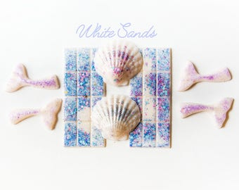 White Sands Wax Melts (5.3 Oz.) - Mermaid Tails - Shells - Wax Melts - Ocean Scented Wax Melts - Scented Wax - Hand Poured Wax Melts