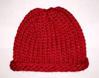 Red Handmade Baby Hat