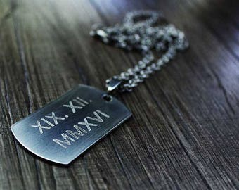 wedding gifts personalized gifts|for|couple mens necklace personalized save the date necklace roman numeral necklace engraved necklace
