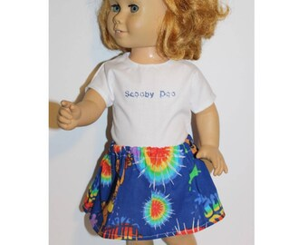 """Handmade clothes for dolls the same size as the 20"""" tall vintage Chatty Cathy dolls. Skirt & Shirt. 60's fun toy"""