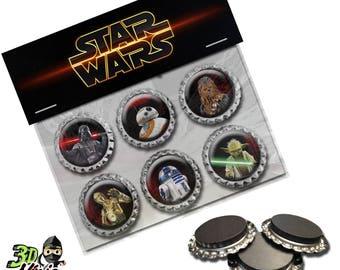 Star Wars Magnets   Bottle Cap Magnets   Party Favors   Gift