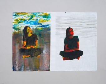 """Acrylpainting """"Two Sites"""""""