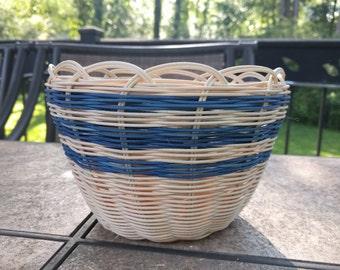 Double-wall Round Reed Basket - Medium