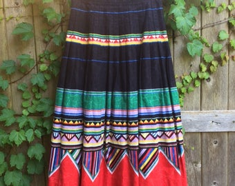 Vintage 1980's Geometric Skirt - Size Small