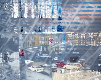 Original Oil Painting, Contemporary Art, Abstract Art, Urban Landscape, Wall Art