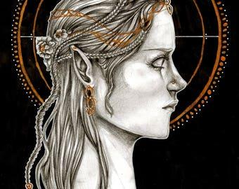 Elf Queen- Print
