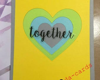 Friendship Nestled Heart Greeting card