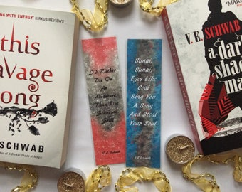 V.E. Schwab Bookmarks