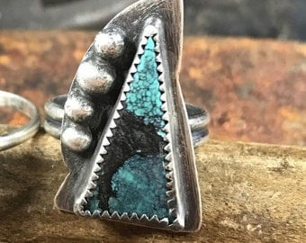 Handmade Chinese Turquoise Statement Ring
