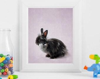 FINAL SALE woodland rabbit art bunny wall print printable rabbit art wall print bunny baby bunny print rabbit printable art Nursery rabbit