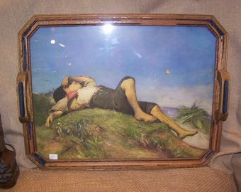 Tray, Picture, Artist Drawing,