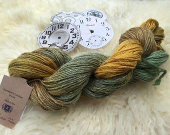 "Batiste Yarn, Hand Painted, ""Sprout"" #6520, Merino, Linen & Silk, Knitting Yarn, Sport Weight, 208 Yards"