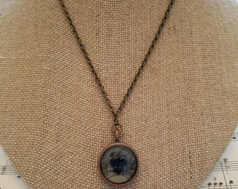 Antiqued Resin Bee Necklace