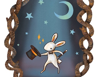 Magician Bunny Art Print