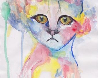 Rainbow Cat (Print)
