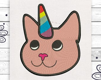 Cat unicorn Tumblr Pink Animal Discount 10% Machine embroidery design 4 sizes INSTANT DOWNLOAD EE5080